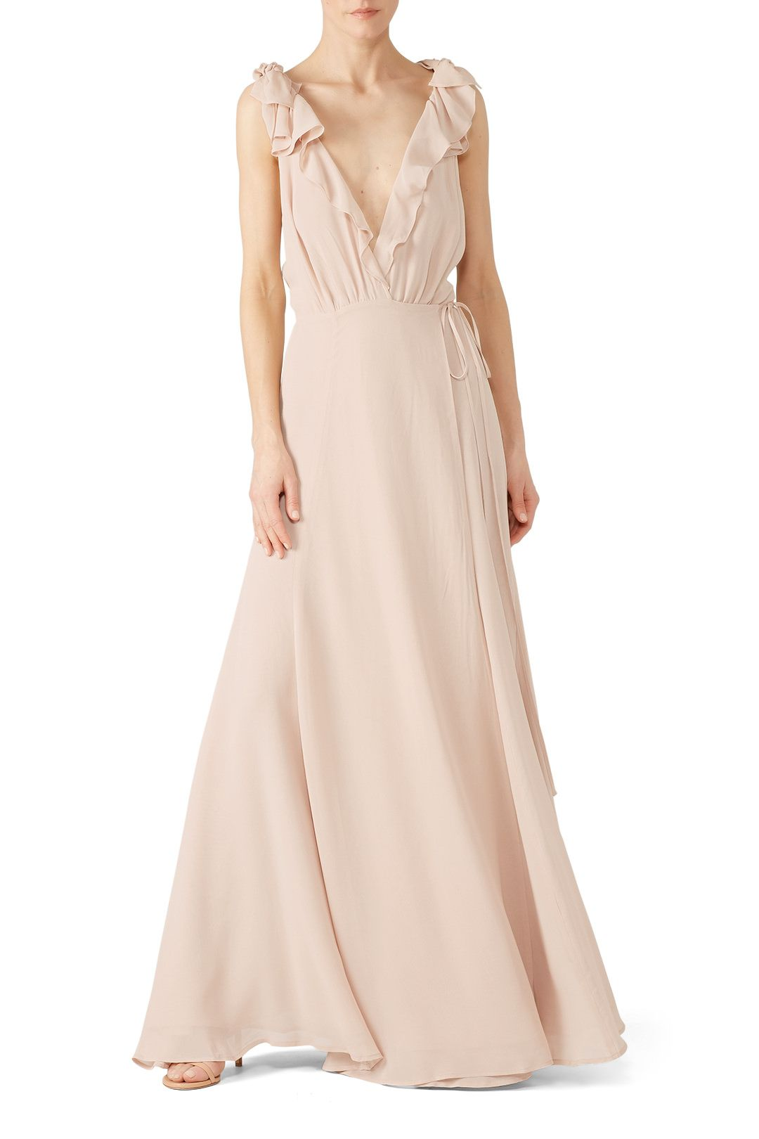 5f607dbaf Rent Champagne Peppermint Dress by Reformation for $45 - $60 only at Rent  the Runway.