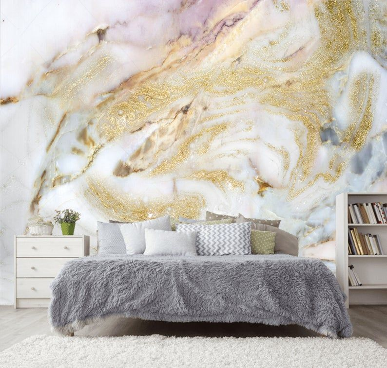 White Pink Gold Gray Marble Wallpaper Wall Sticker Decor Ceiling Wall Mural Self Adhesive Exclusive Design Photo Wallpaper In 2021 Grey Marble Wallpaper Gold Marble Wallpaper Marble Wallpaper