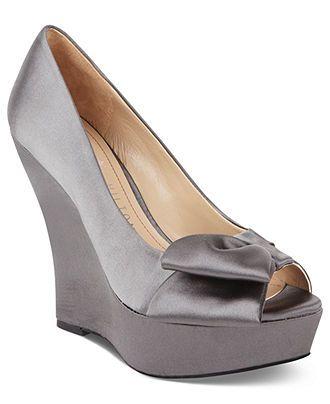 Paris Hilton Shoes Shelly Platform Wedges Evening Bridal