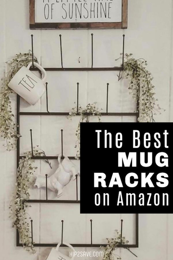 Declutter Cabinets and Display Your Favorite Coffee Mugs with Wall Racks from Amazon