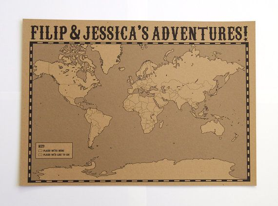 Personalised world map large wall map map marker kraft map personalised world map large wall map map marker kraft map vintage map travel map custom travel map map your travels a2 map gumiabroncs Image collections