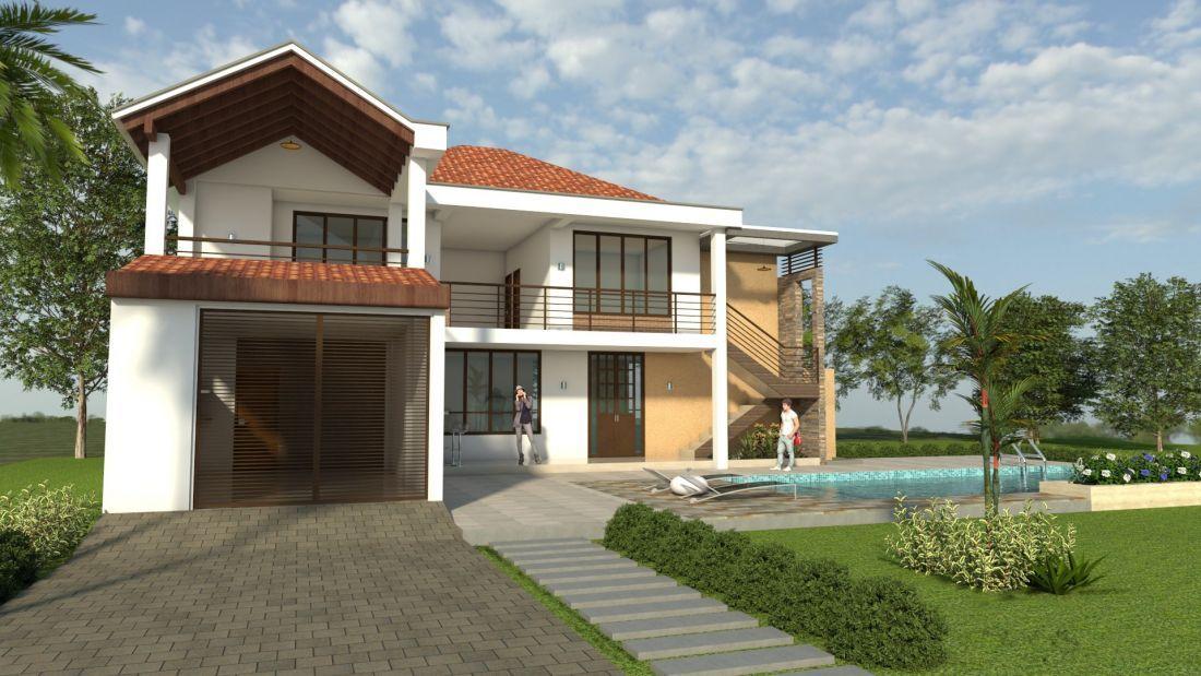 Fachadas De Casas De 2 Plantas Con Tejas Fachadas De Casas Modernas Casas Plantas De Casas