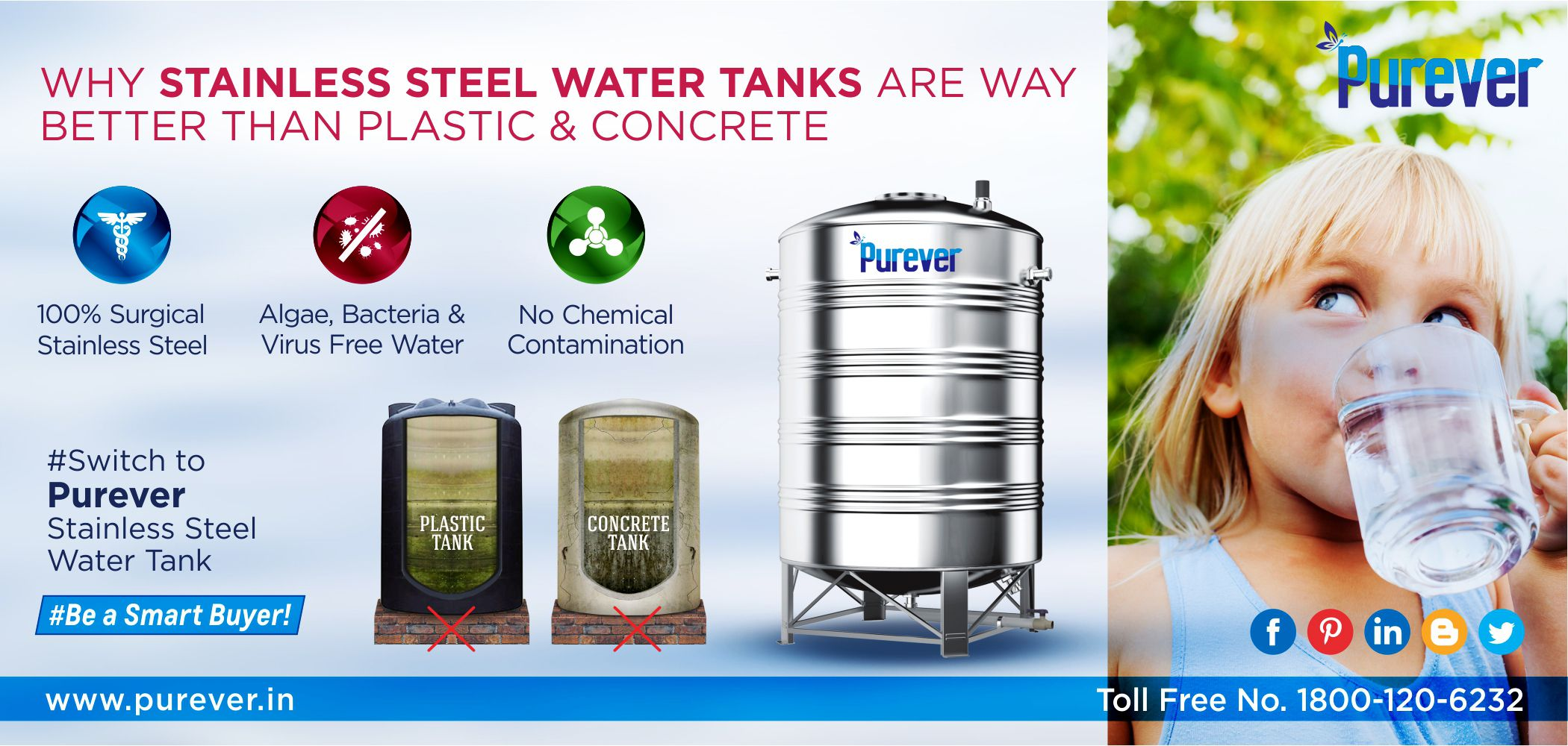Major Advantages Of Stainless Steel Water Tanks That Cannot Be Ignore 1800 120 6232 Purever Stainlesssteel Corr Steel Water Tanks Water Tank Steel Water