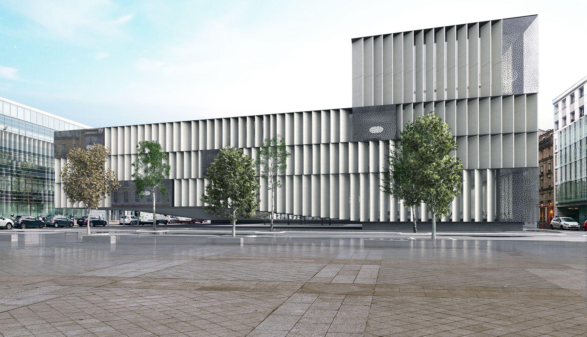 Le projet architectural d immeuble de bureaux que l agence aum de
