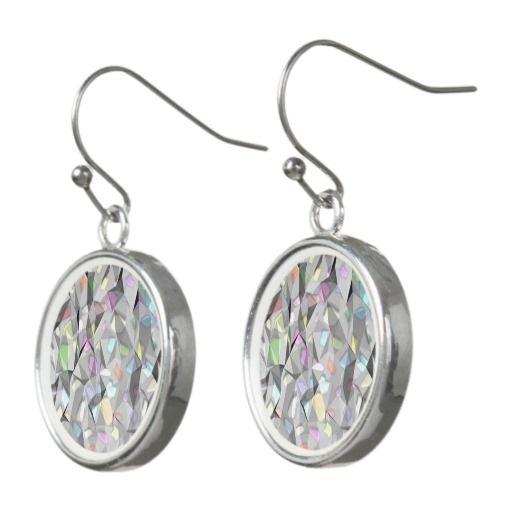 Creased Colors drop earrings