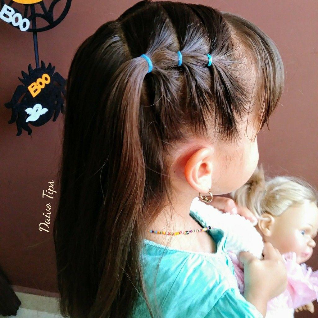 Peinado fácil y rapido con ligas #girlhairstyles