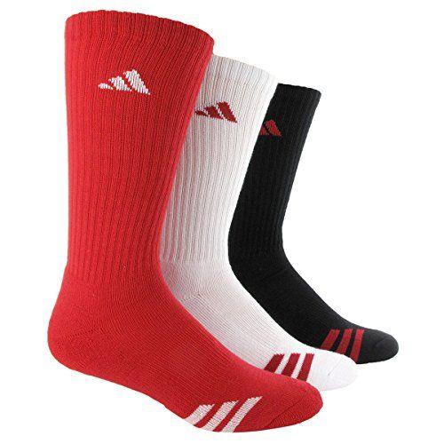 adidas Boys Cushion Crew Socks (Pack of Three Pairs)