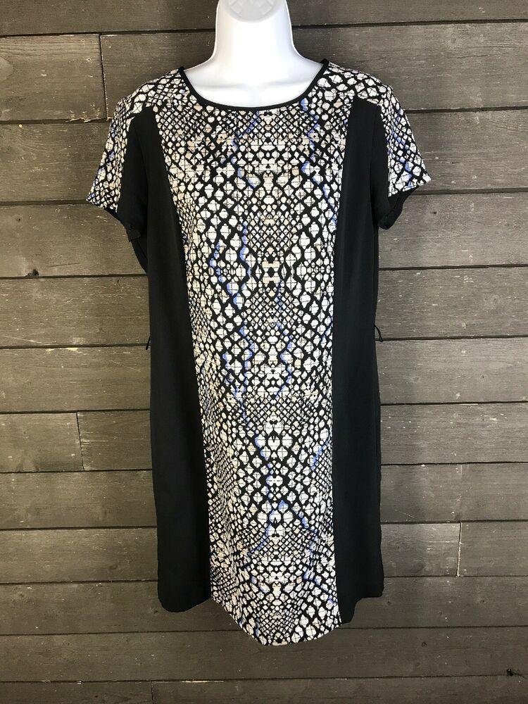 bc07547f49 Apt 9 5038 Black Snake Print Shift Dress Women s S  fashion  clothing  shoes