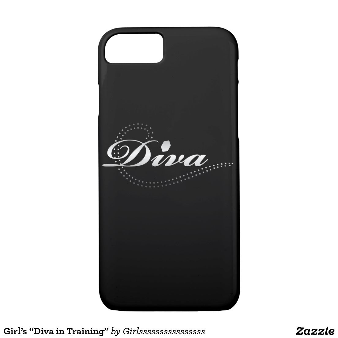 "Girl's ""Diva in Training"" iPhone 7 Case"