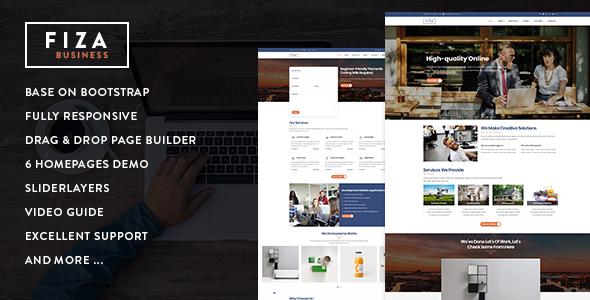 Fiza Responsive Business Service Drupal 8 8 Theme Drupal Portfolio Web Design Custom Website Design