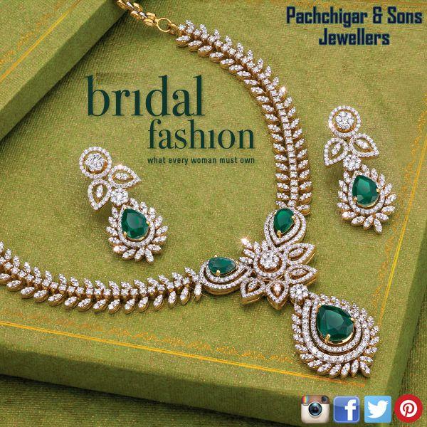 Bridal Diamond Jewellery Set Diamond Jewelry Necklace Diamond Necklace Designs Diamond