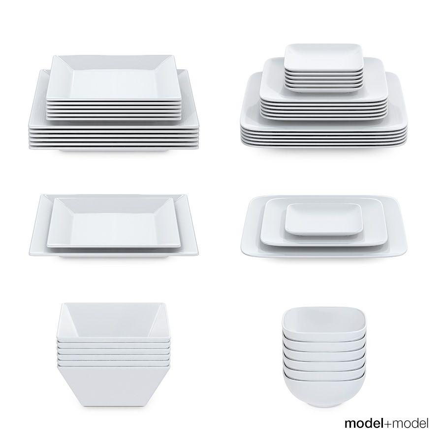 Set Of Square Plates Square Plates Square Dish Sets Kitchen Plates Set