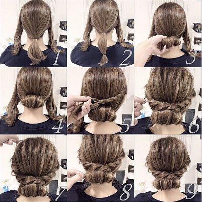 Coiffure Avec Tresses Coiffures Simples Coiffure Cheveux Mi Long Coiffure Simple Et Rapide