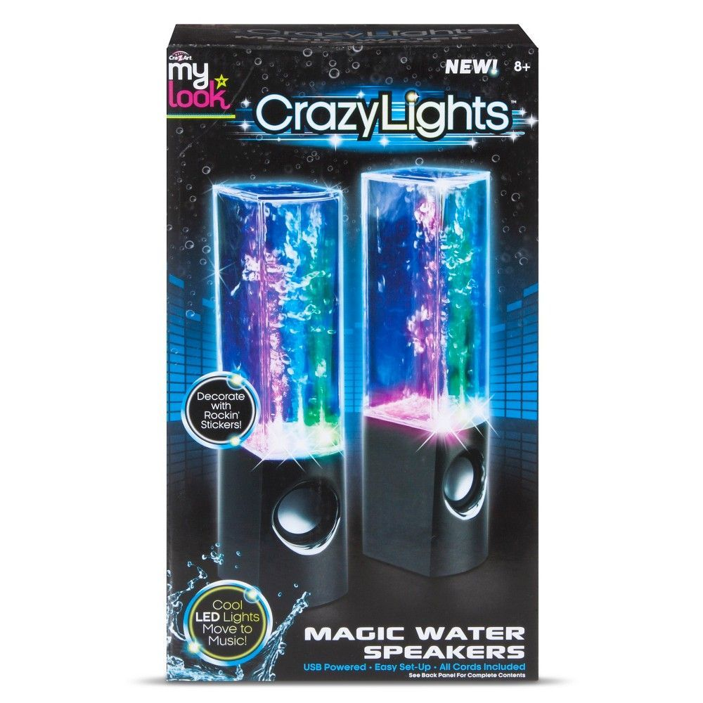 My Look Crazy Lights Magic Water Speakers by Cra-Z-Art, | Products ...
