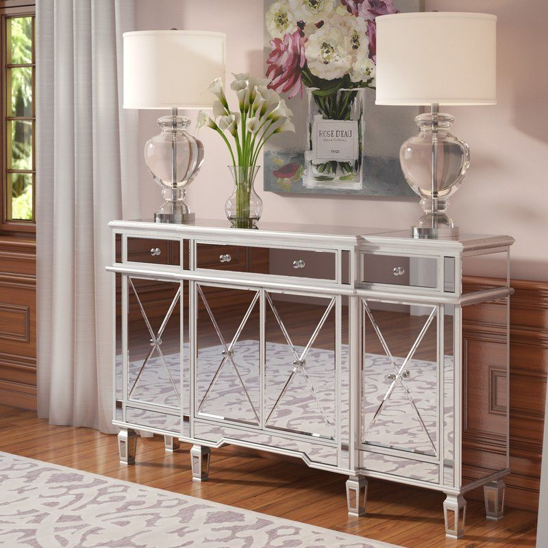 Jolene Mirrored Sideboard Rooms To Go Furniture Mirrored Furniture Accent Chests And Cabinets