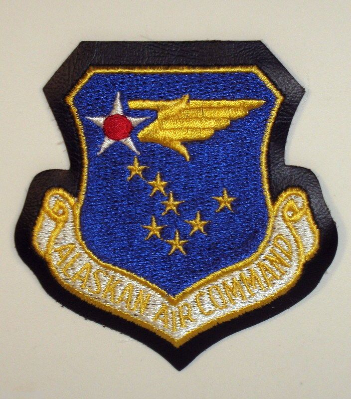 USAF US Air Force Alaskan Air Command Crest Badge Patch
