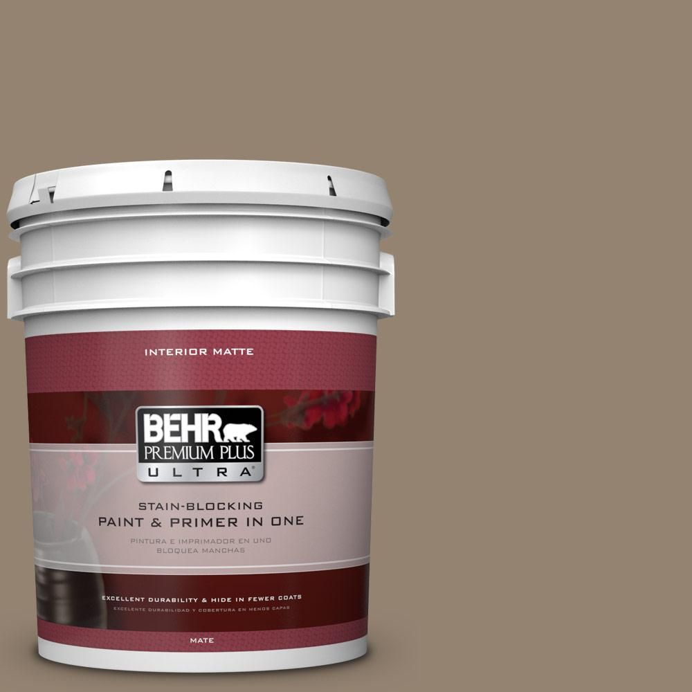 BEHR Premium Plus Ultra Home Decorators Collection 5 gal. #hdc-AC-14 Bristol Beige Flat/Matte Interior Paint