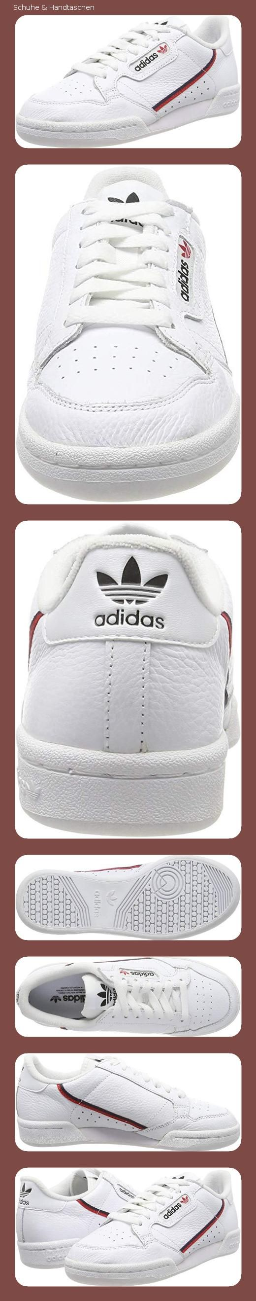 adidas Herren Continental 80 Fitnessschuhe, Blanc/Rouge ...