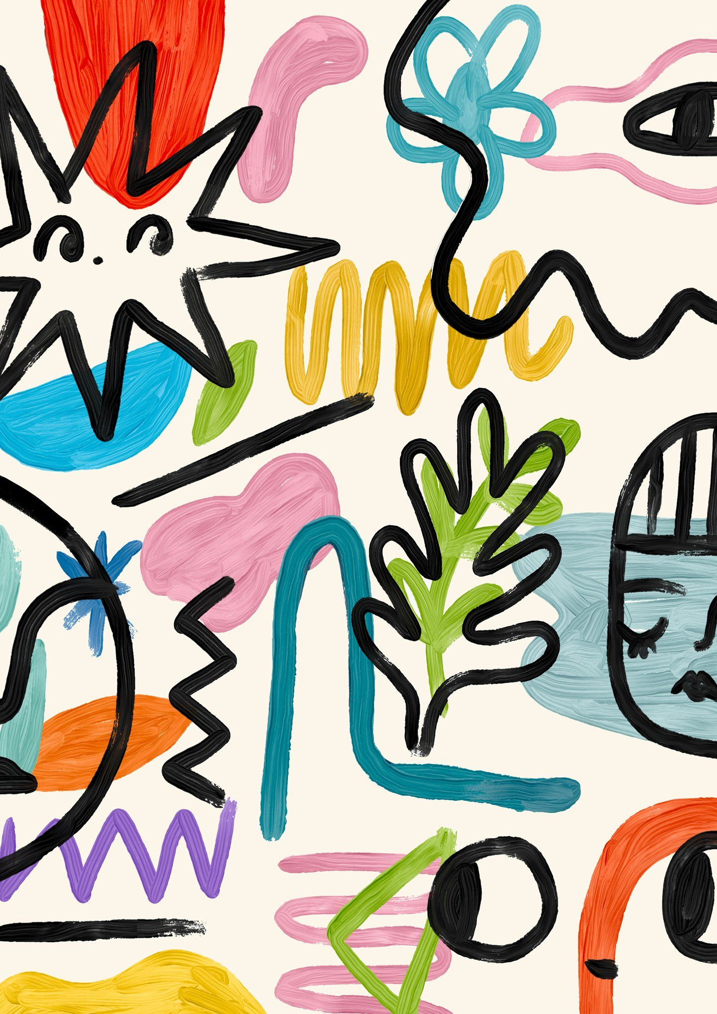 With bold colours and characters, Martcellia Liuni