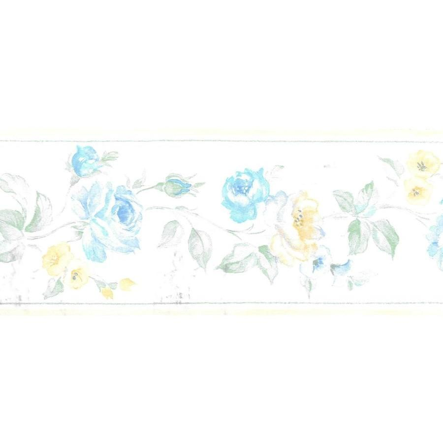 Dundee Deco Prepasted Wallpaper Border Floral Beige Green Yellow Blue Flowers On Vine Wall Bor Prepasted Wallpaper Wallpaper Border Wallpaper Pink And Blue