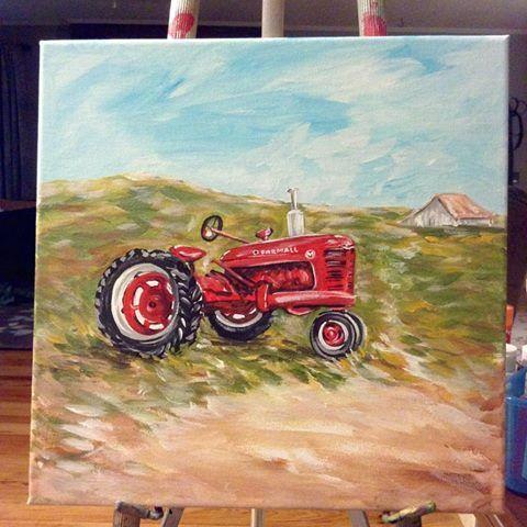 480 farmall acrylic painting - Google Search