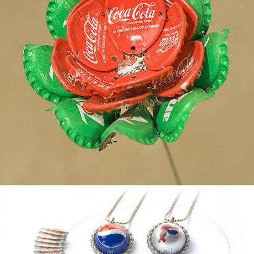 Bottle Cap Jewelry - cool ideas