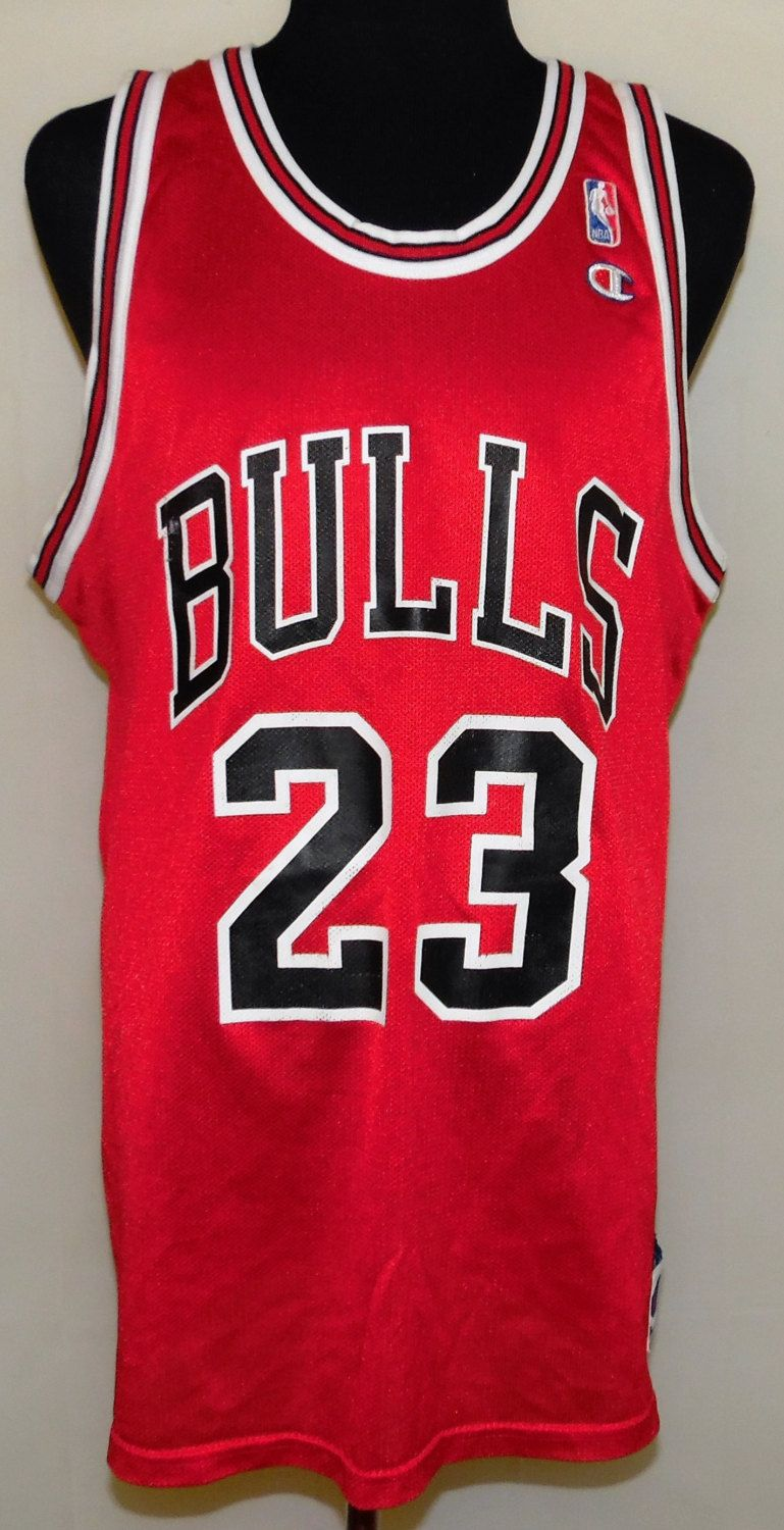 9bb003da007 Michael Jordan Chicago Bulls Vintage 90 s Champion Brand NBA Basketball  Jersey…