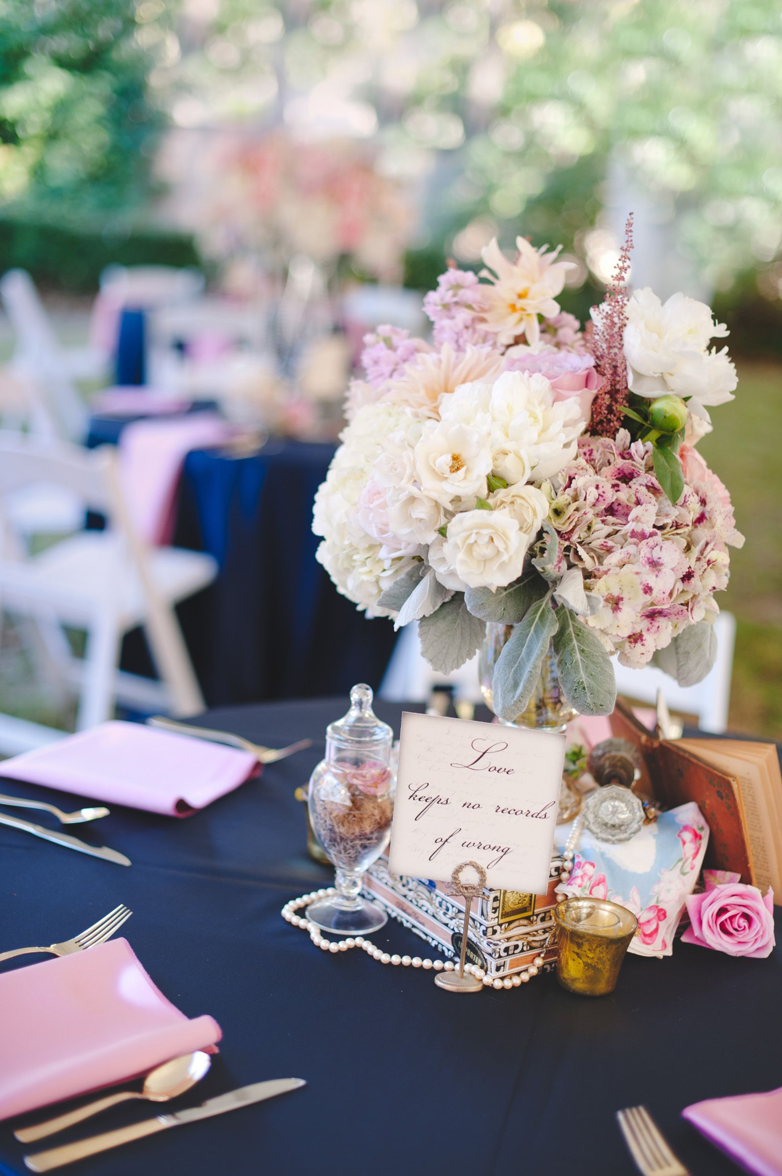 Romantic Pink Blue Vintage Aldredge House Wedding Vintage One Of A Kind Table Vintage Table Decor Vintage Wedding Props Vintage Rentals Wedding Decorations