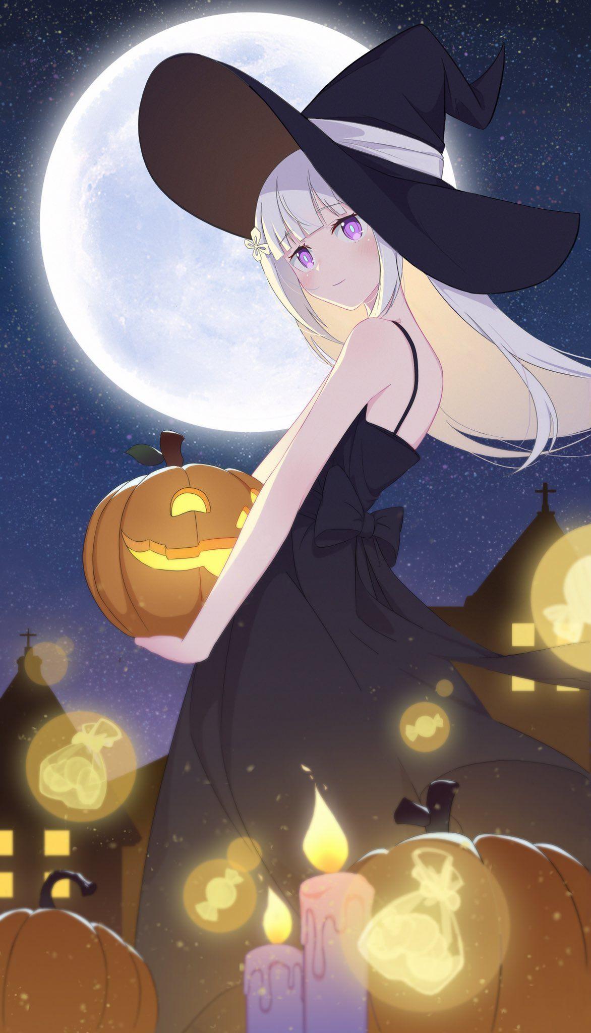 Dailyemilia On Twitter In 2021 Anime Halloween Anime Halloween Anime Halloween anime wallpaper hd