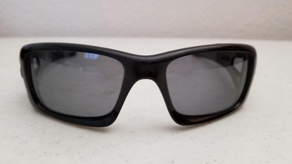 889367623fb  49.95 Oakley Crank Case Sunglasses Gray Polarized Lenses Matte Black Frame   Oakley  Shield