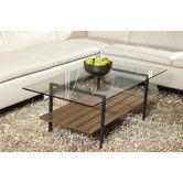*** favorite *** AllModern- Jesper Office Modern Glass Coffee Table with Shelf