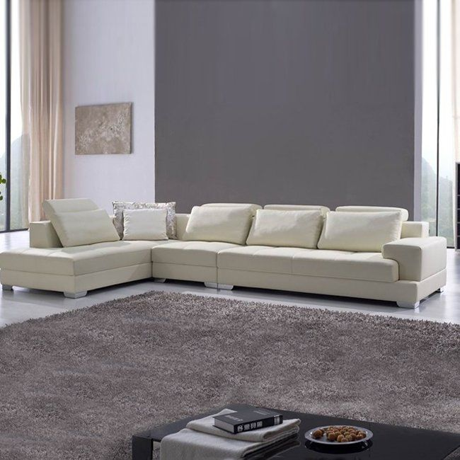 EHO Studios M: 2595 Soft Leather Sectional - Home Furniture Showroom