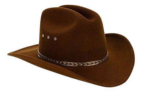Western Express Inc. - Child Cowboy Hat (Brown)Size 6 5/8 (21 inches) -- Learn more @