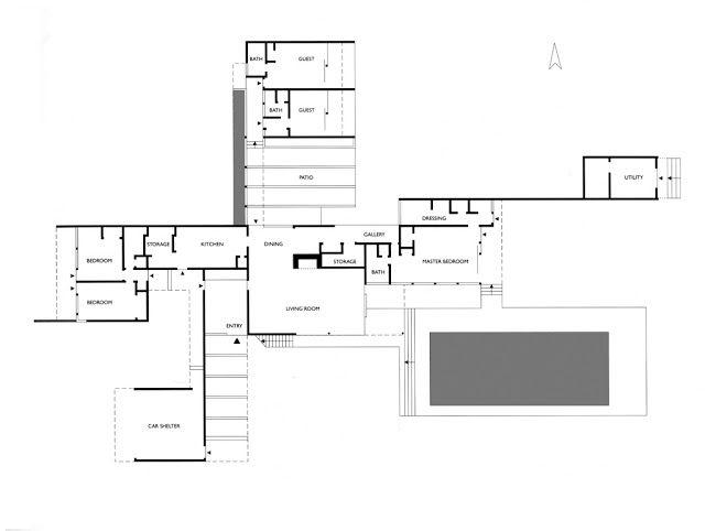 Kaufmann House RICHARD NEUTRA Richard Neutra – Richard Neutra Kaufmann House Floor Plans