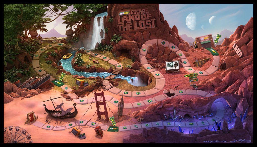 Escape land of the lost promo by jermilex fantasy art