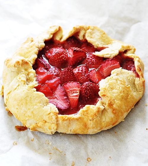 Strawberry crostata. In individual size, these are perfect for using up leftover pie crust.