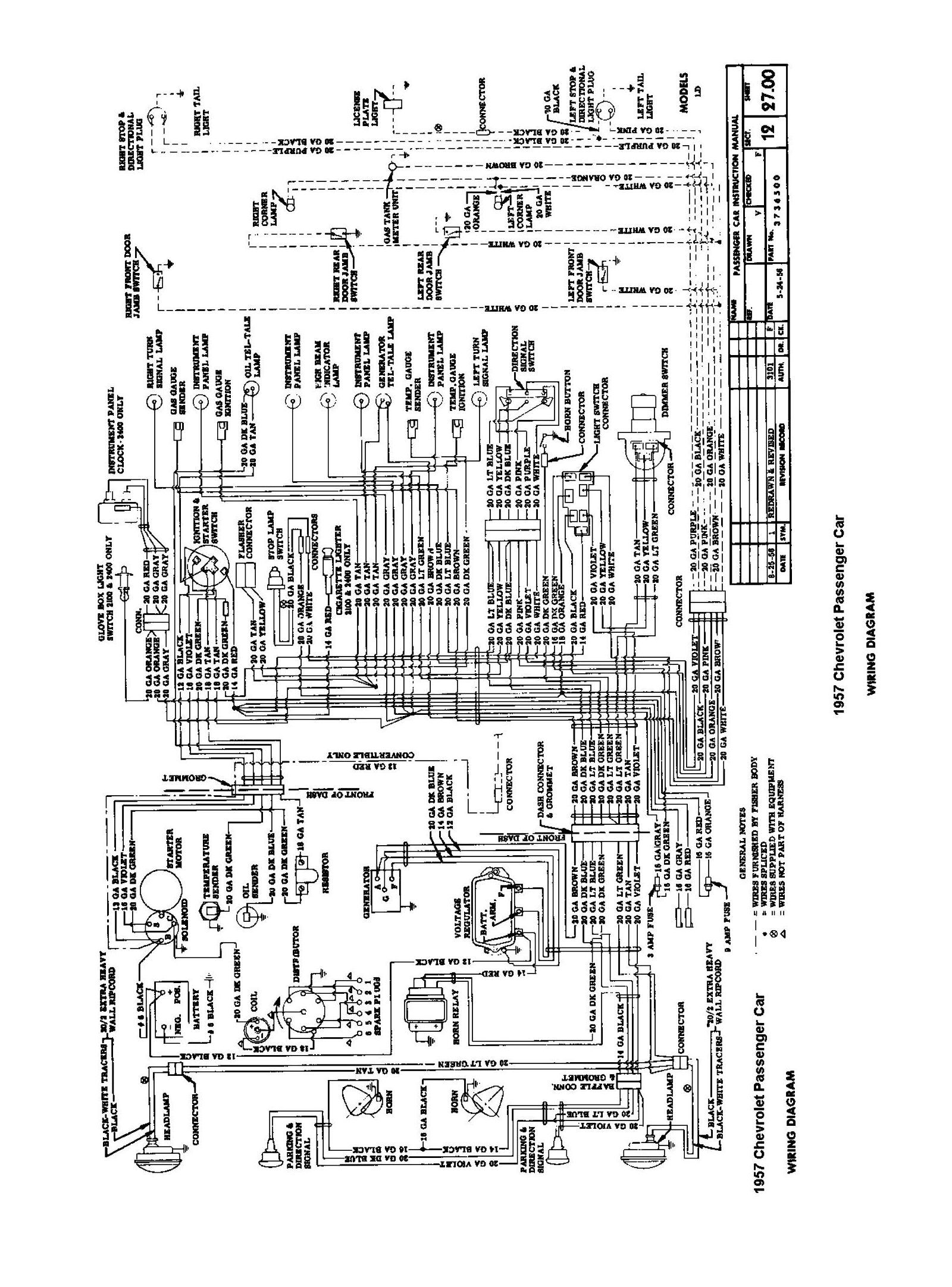 57 Chevy Wiring Diagram Diagram 1957 Chevrolet Wire