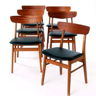 Danish Dining Chair danish modern dining chairs | danish teak classics | danish teak