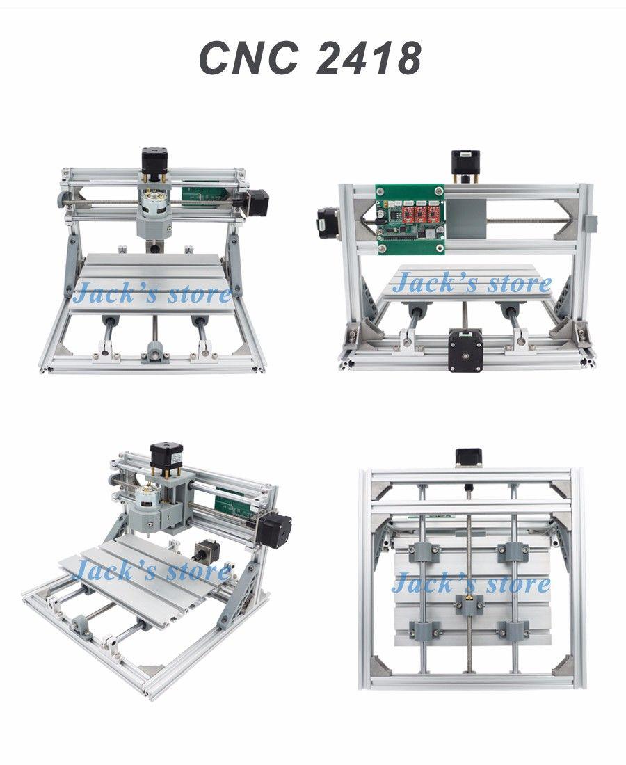 cnc 2418   2500mw laser cnc engraving machine pcb milling