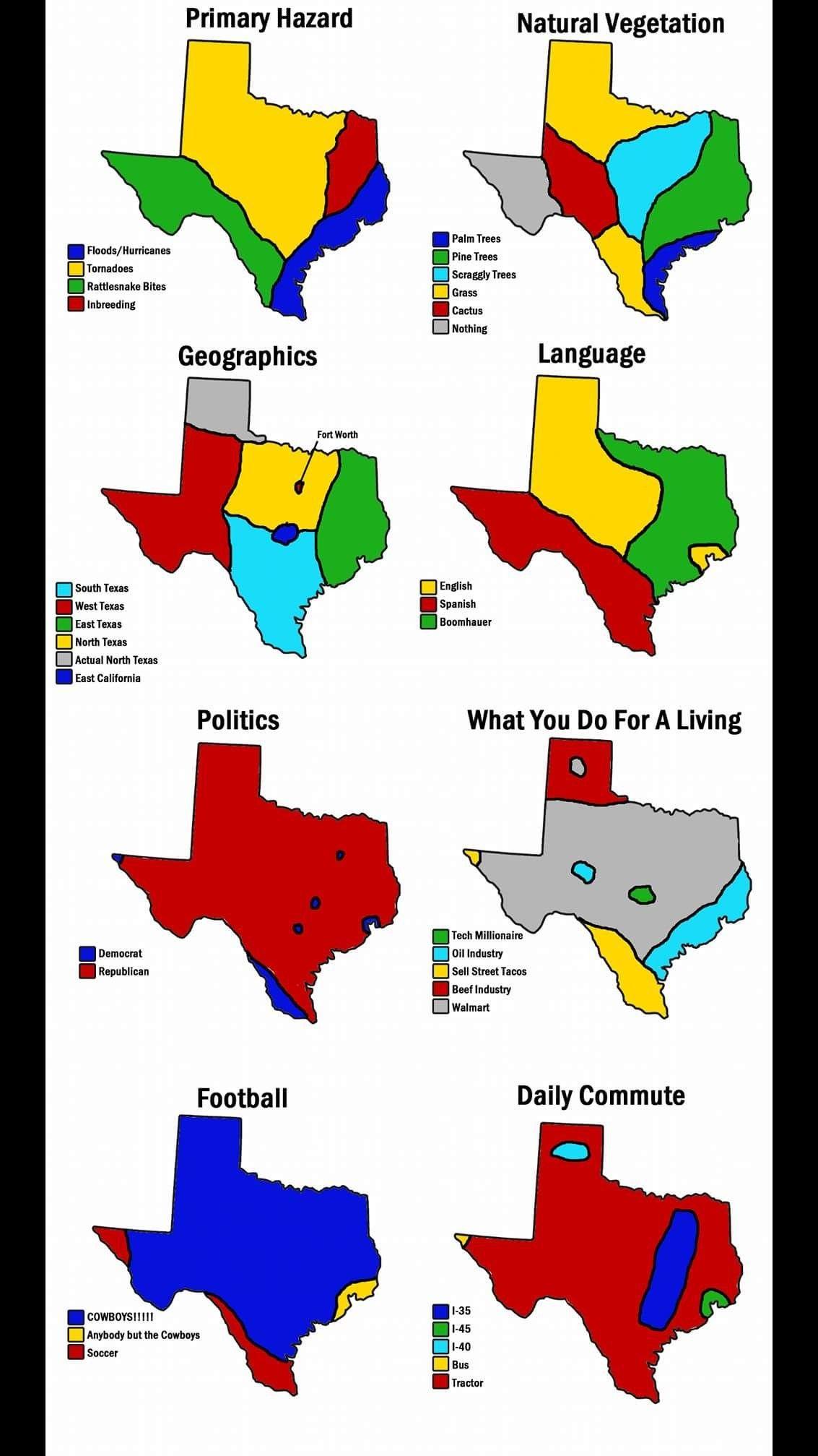 My God The Funnies Map Texas Humor Texas