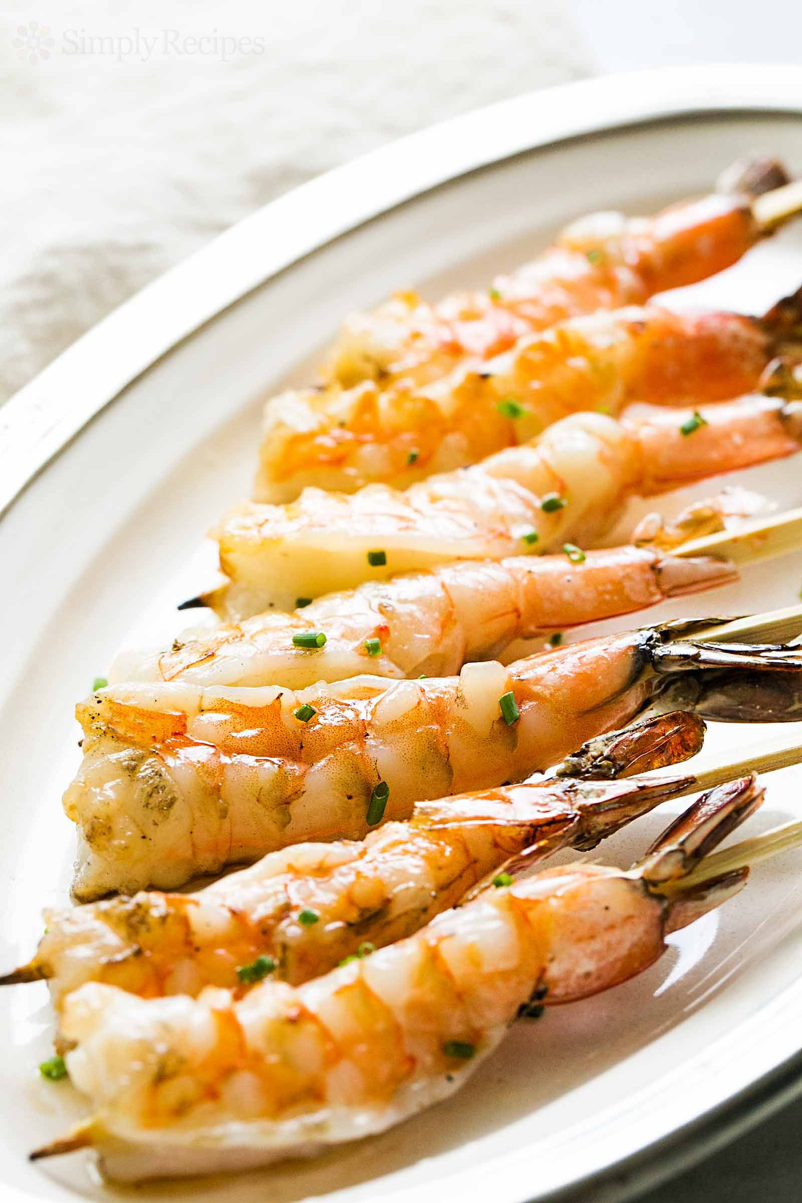 Photo of Grilled Garlic Shrimp Skewers Recipe | SimplyRecipes.com