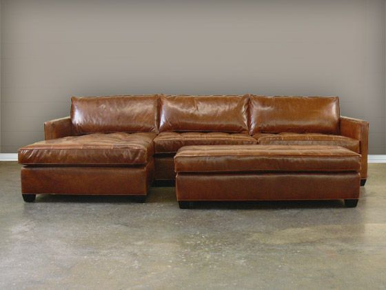 Bon The Arizona Leather Sectional Sofa With Chaise Is A LeatherGroups.com  Exclusive, With Smart