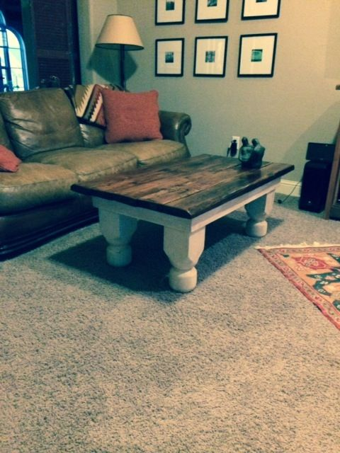 Made from old barn floor joists and old porch posts.