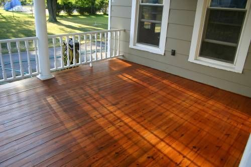 How To Refinish Wood Porch Floor Autumn Diy Project In