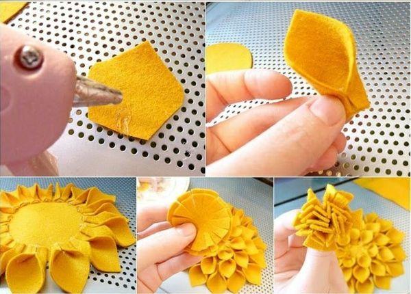 diy filzblume selber machen deko ideen | nähen-accessoires, deoc, Best garten ideen