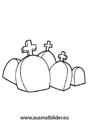 Ausmalbilder Fur Graber Ausmalbilder Viele Grabsteine Halloween Malvorlagen Ideen