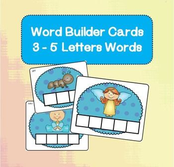 Word builder cards bundle pinterest printable letters literacy build over 100 different 3 to 5 letter words using printable letter tiles they expocarfo Image collections