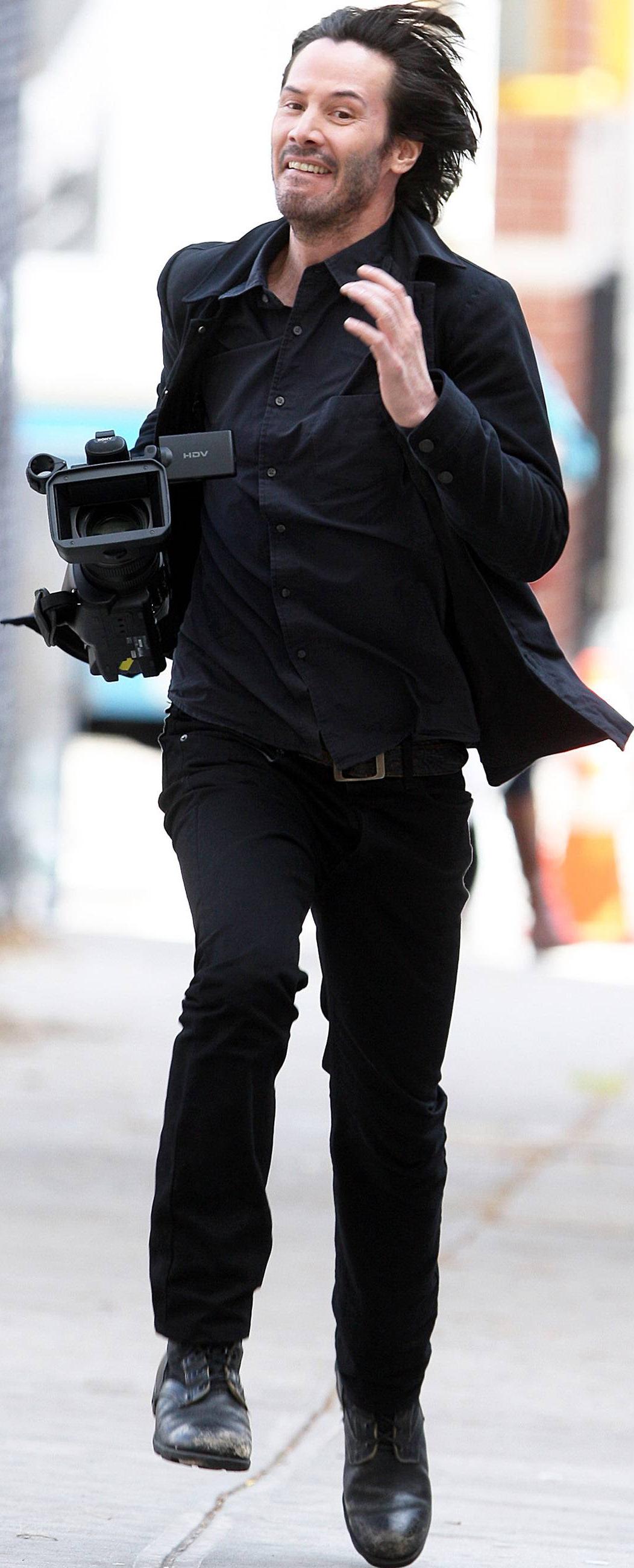 Keanu Reeves Running Keanu Reeves Style Cutout