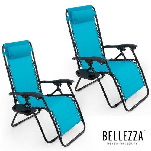 BELLEZE Anti Gravity Chair Set of 2 Adjustable Recliner Chair