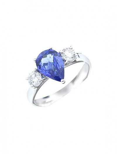 18ct Tanzanite & Diamond Ring - Available at Onyx Goldsmiths